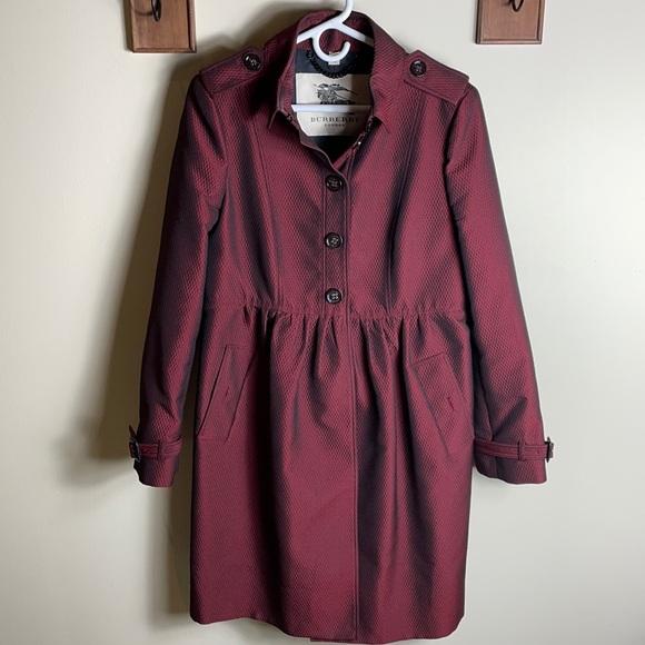 Burberry Marroon Trench Coat